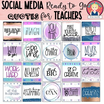 Poster Quotes Clipart for Social Media, Blog Posts or ClassDecor #fireworks2020