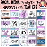 Poster Quotes Clipart for Social Media, Blog Posts or Clas