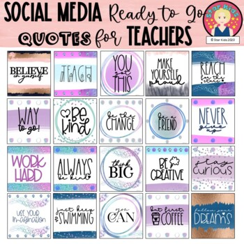 Poster Quotes Clipart for Social Media, Blog Posts or Decor in English-Spanish
