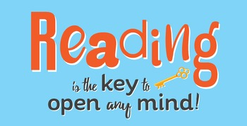 Poster: Reading is the Key to Open Any Mind! [High Resolution Printable]