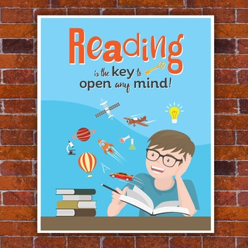 Poster: Reading is the Key to Open Any Mind! [High Resolut