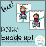 Poster: Reminder to Buckle Up Wheelchairs!