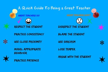 Poster Reminding You About Being A Great Teacher