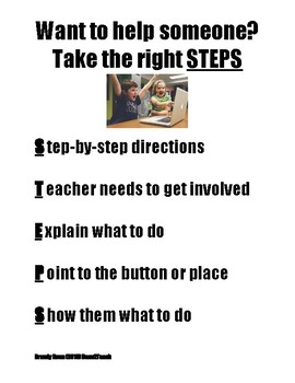 Poster - STEPS for helping other students