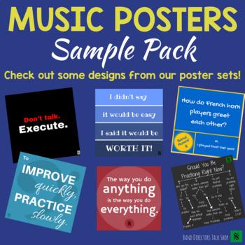Music Bulletin Board- FREE Music Poster Sample Set!