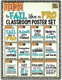Poster Set: How to FAIL like a PRO.  Strategies & Skills f