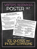 Poster Set: Quote Integration and In-Text Citations