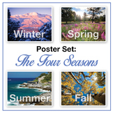 Four Seasons Posters (real photographs): Winter, Spring, Summer, Fall
