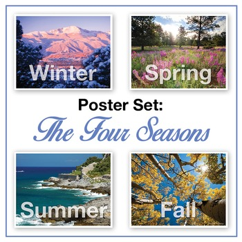 Four Seasons Posters (real photographs): Winter, Spring, S