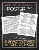 Poster Set: Character Traits and Tone vs. Mood