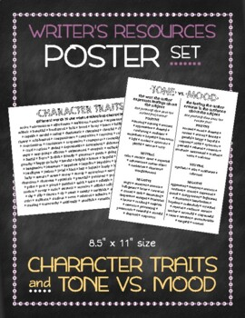 Poster Set: Character Traits and Tone vs. Mood