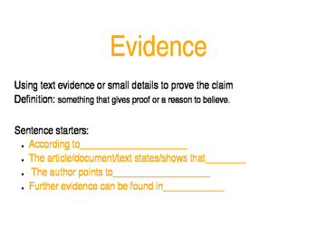 Poster Set on Claim, Evidence, and Reasoning