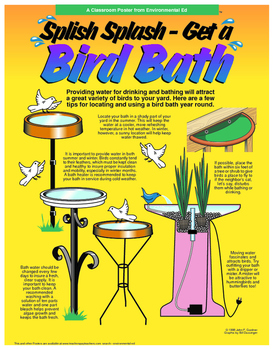 POSTER - Set up a birdbath