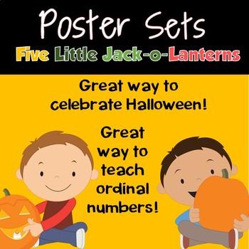Poster Sets: FIve LIttle Jack-O-Lanterns