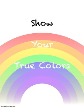 Poster - Show Your True Colors - LGBT