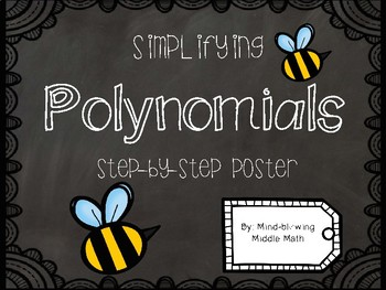 Simplifying Polynomials FREEBIE Poster