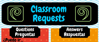 Poster - Spanish Classroom Requests