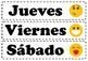 Poster - Spanish - Los días de la semana