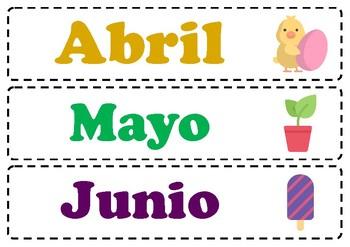 Poster - Spanish - Los meses de año