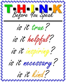 Poster: THINK!