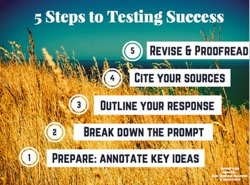 Poster: Testing Success (English Language Arts Performance Task)