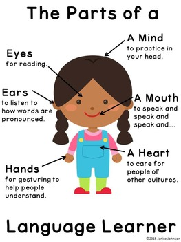 Poster: The Parts of a Language Learner  {English version,