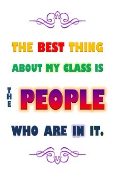 Poster: The best thing about my class!