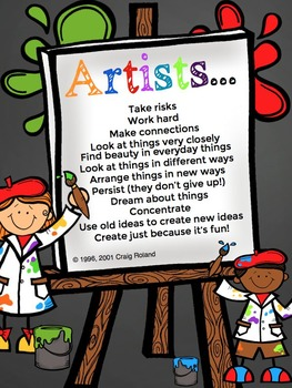 Poster: Think like an artist