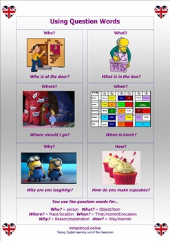 Poster - Using Question Words