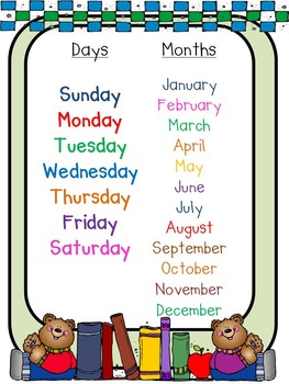 Poster: Days & Months_FREE!!