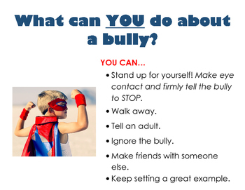 Poster: What To Do About A Bully