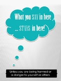 Poster-What you say in here stays in here!