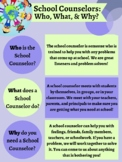 Poster - Who, What, & Why School Counselors