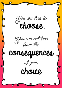 Poster You are free to choose