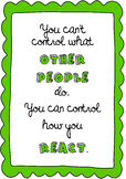 Poster You can control how you react behaviour management