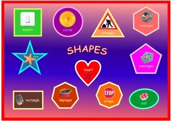 A3 size Shapes Poster .