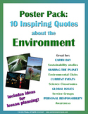 Poster and Activity Pack: Environmental / Earth Day Quotes
