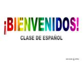 Póster de bienvenida a clase de Español / Welcome poster i