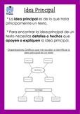 Poster de la Idea Principal (Main Idea poster/anchor chart)