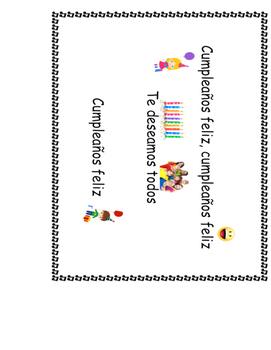 Poster de los cumple/Birthday poster