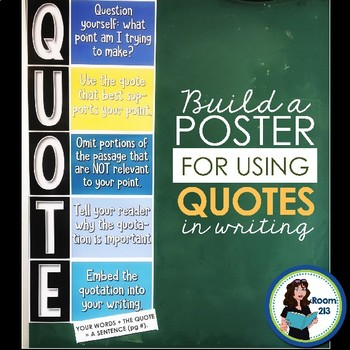 Poster for Using Quotations
