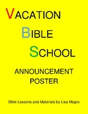 Vacation Bible School Announcement Poster -   Print and Go!