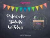 Poster for the students' birthdays
