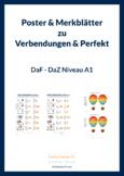 Poster & leaflets Verb-Endungen und Perfektbeispiele German A1