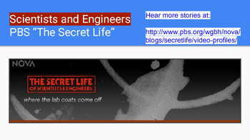 """Poster of Diverse Scientists and Engineers - PBS """"The Secret Life"""""""