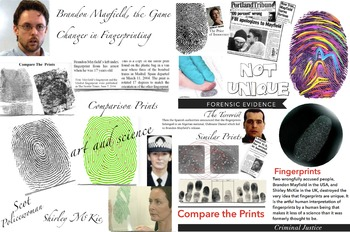 Fingerprints Not Unique Forensics FREE POSTER ~ Mayfield &