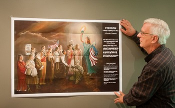 Poster of The Freedom Painting with lesson plans
