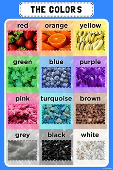 Poster of the Basic Colors
