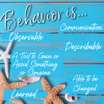 Poster on Basics of Behavior