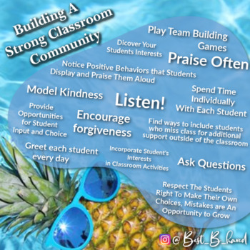Poster on Building Strong Classroom Community